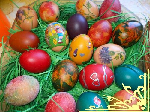 боядисани великденски яйца