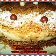 украсена кадаиф торта