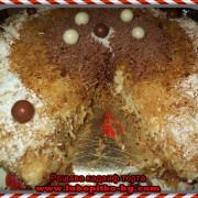разрез на рошавата кадаиф торта